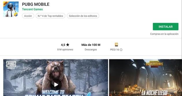 PUBG versión Android