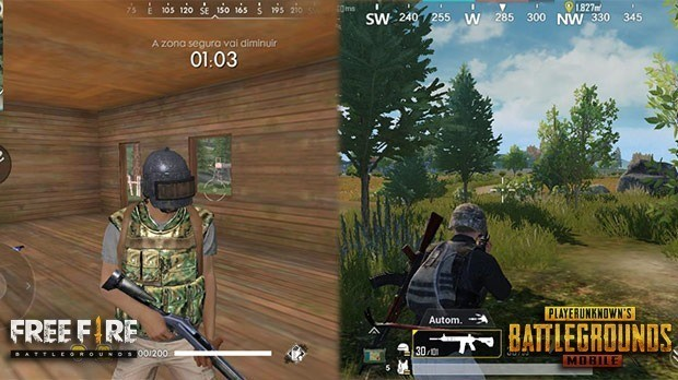 Free Fire PUBG Mobile Plataformas y requisitos