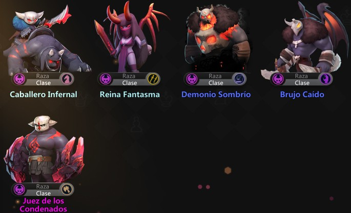 Auto Chess Mobile: Demonios