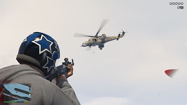 GTA V Mods: Army Spawns at Five Stars