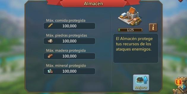 LM Almacenar recursos