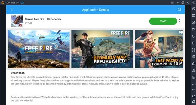 Descargar Free Fire LD Store emulador