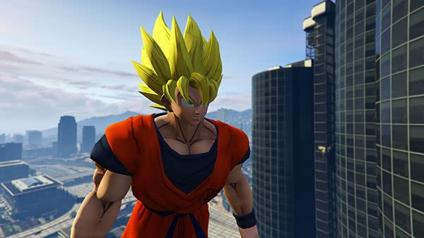 GTA V Mods: Dragon Ball Z Goku