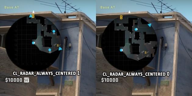 Comando radar centrado CSGO