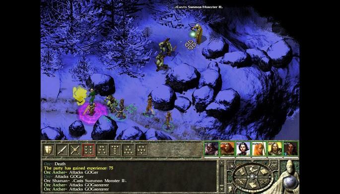 Icewind Dale II - Mejores juegos RPG para PC