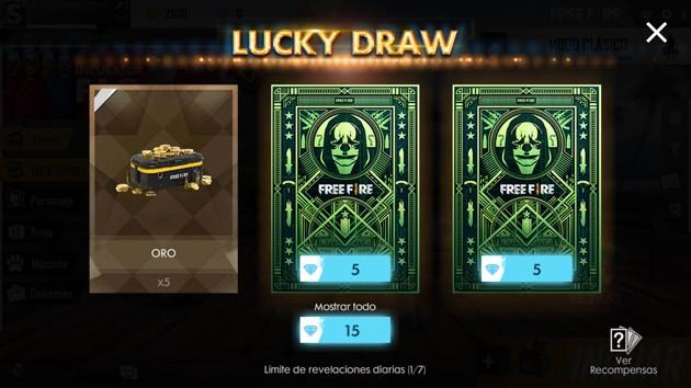 Free Fire participa en Lucky Draw