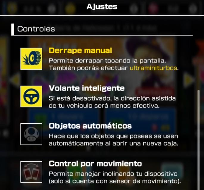 Activar Derrape manual en Mario Kart Tour