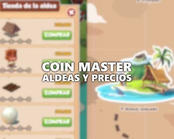 Todas las aldeas de Coin Master y sus precios