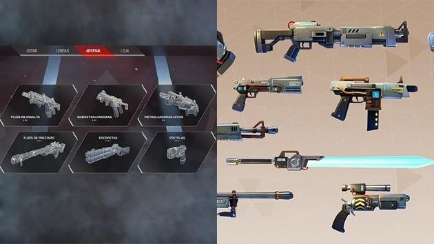 Apex Legends vs Fortnite: Armas