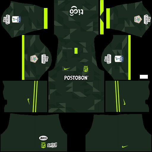 Atlético Nacional Uniforme visitante Dream League Soccer