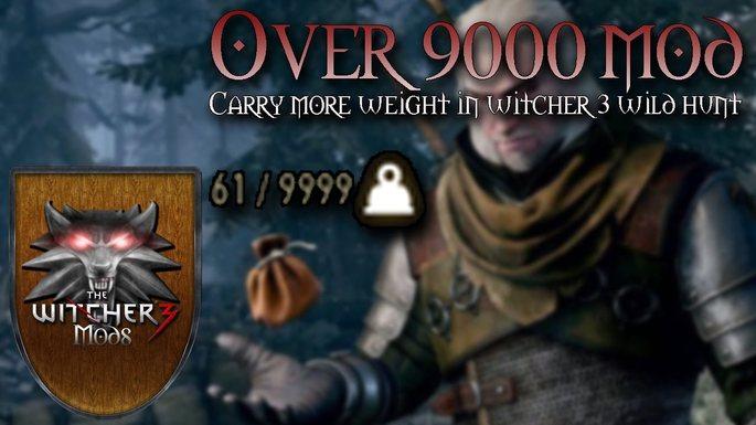 Aumentar límite de peso The Witcher 3 mods