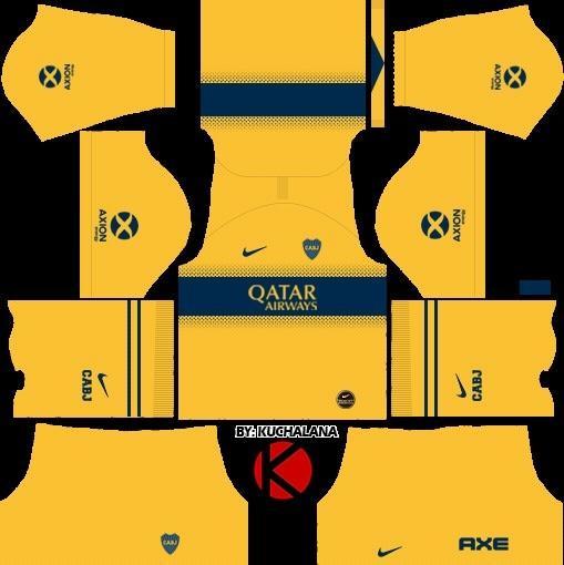 Boca Juniors equipación visitante