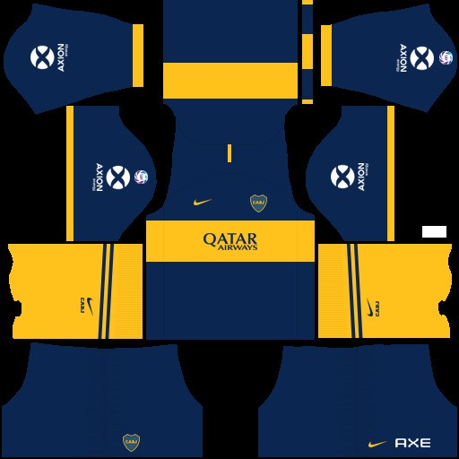 Boca Juniors Uniforme local versión 1 Dream League Soccer