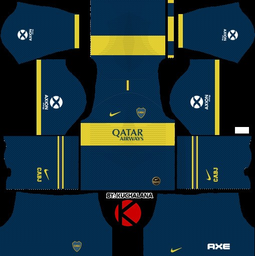 Boca Juniors Uniforme local versión 3 Dream League Soccer