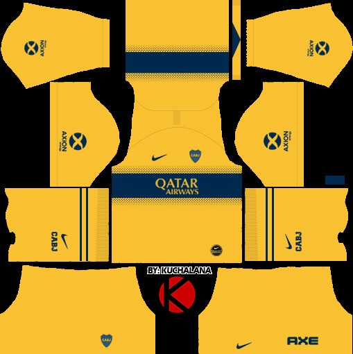 Boca Juniors Uniforme visitante versión 1 Dream League Soccer