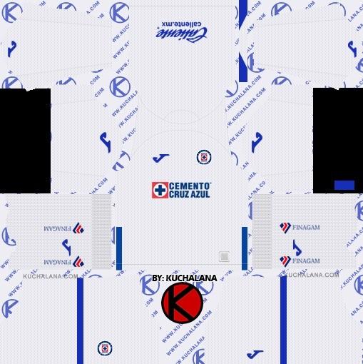Cruz Azul equipación visitante