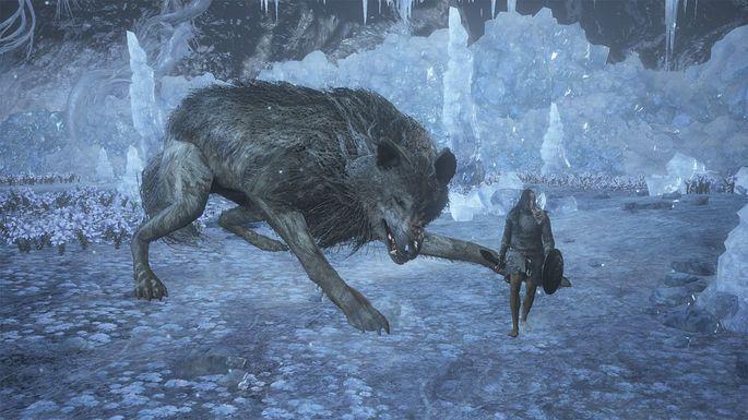 Custodio de la tumba del Campeón y Gran lobo custodio - Dark Souls 3 Bosses