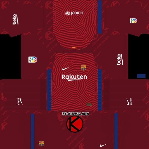 DLS19 Barcelona Uniforme visitante del portero
