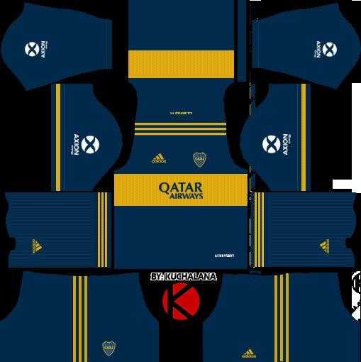DLS19 Boca Juniors Uniforme local