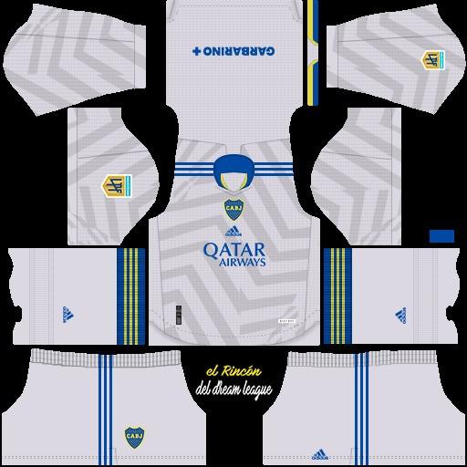 DLS19 Boca Juniors Uniforme visitante