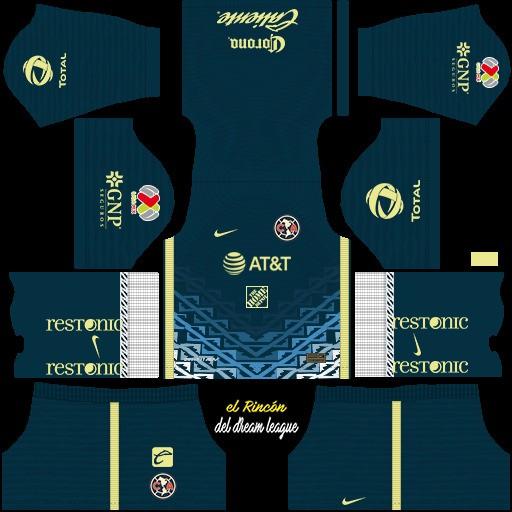DLS19 Club América Uniforme visitante