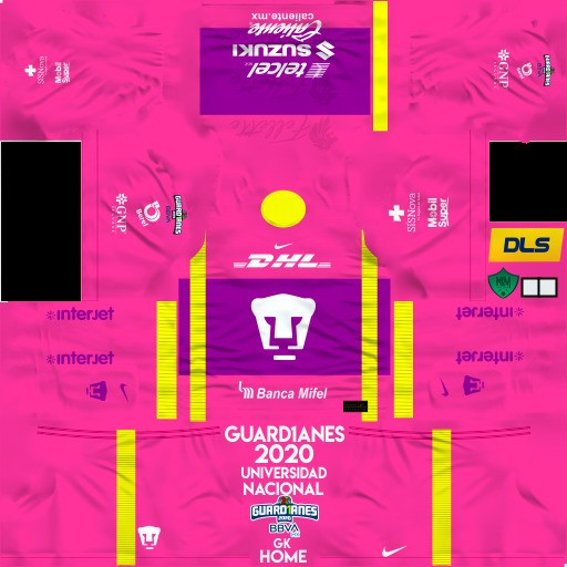 DLS19 Pumas UNAM Uniforme Local del portero