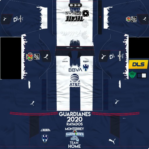 DLS19 Rayados de Monterrey Uniforme Local