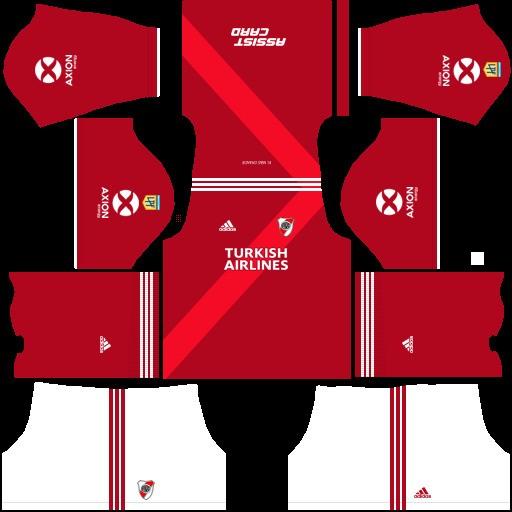 DLS19 River Plate uniforme visitante