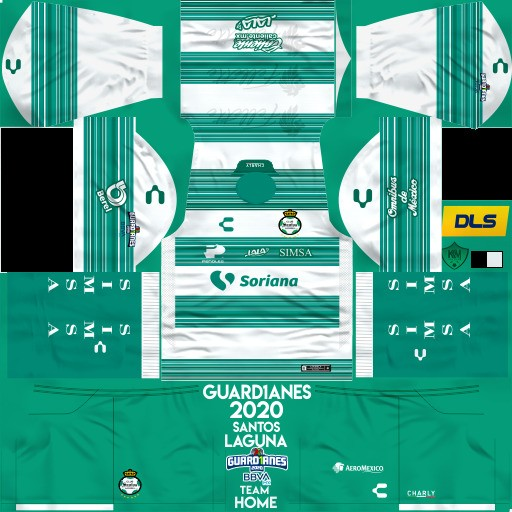 DLS19 Santos Laguna Uniforme Local