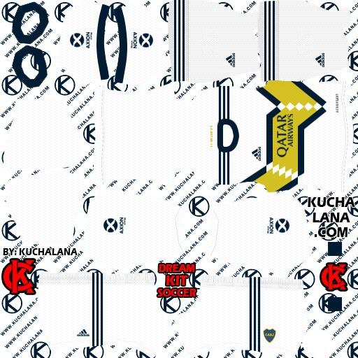 DLS20 Boca Juniors uniforme visitante