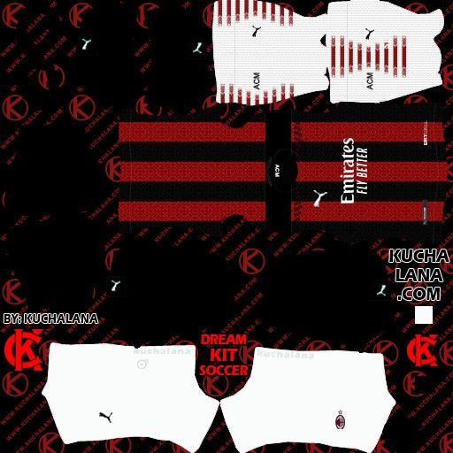 DLS21 AC Milán Uniforme Titular