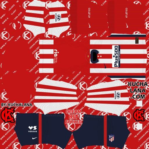 DLS21 Atlético de Madrid Uniforme Titular