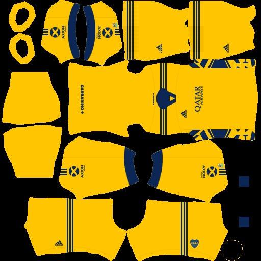 DLS21 Boca Juniors Tercer uniforme