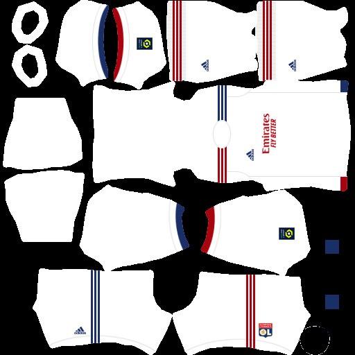 DLS21 Olympique Lyon Uniforme Titular
