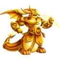 Dragón Júpiter Dorado Dragon City