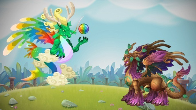 Dragones Legendarios de Dragon City