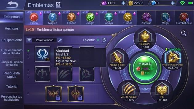 Mobile Legends Emblemas