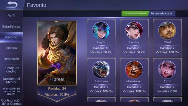 Mobile Legends enfócate en pocos Héroes