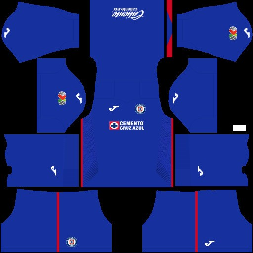 Equipación local Cruz Azul Dream League Soccer