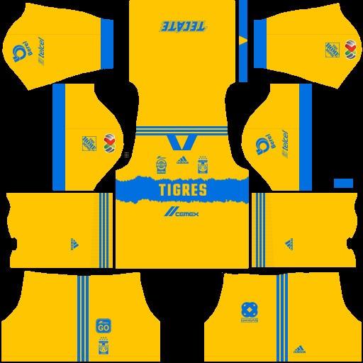 Equipación local Tigres UANL Dream League Soccer