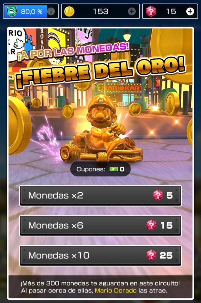 Modo Fiebre del Oro Mario Kart Tour
