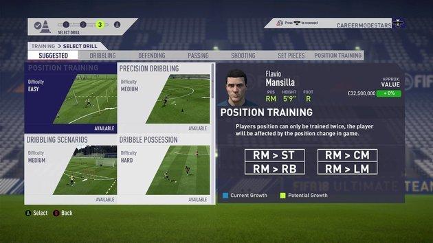 FIFA 19 - Modo Carrera de jugador: entrenamiento
