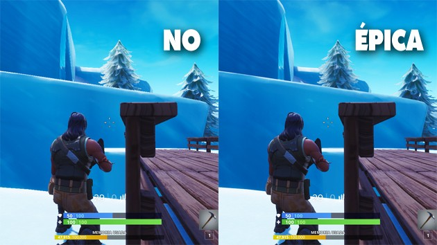 Fortnite - Comparativa: antialiasing
