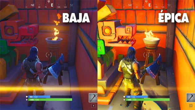 Fortnite - Comparativa: efectos