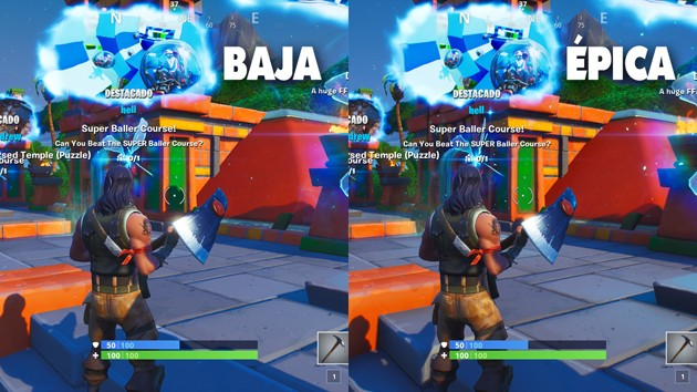 Fortnite - Comparativa: posprocesado