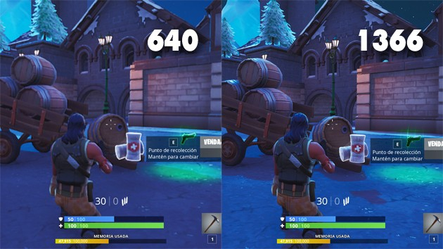 Fortnite - Comparativa: resolución