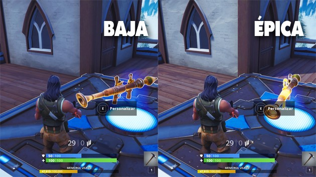 Fortnite - Comparativa: texturas