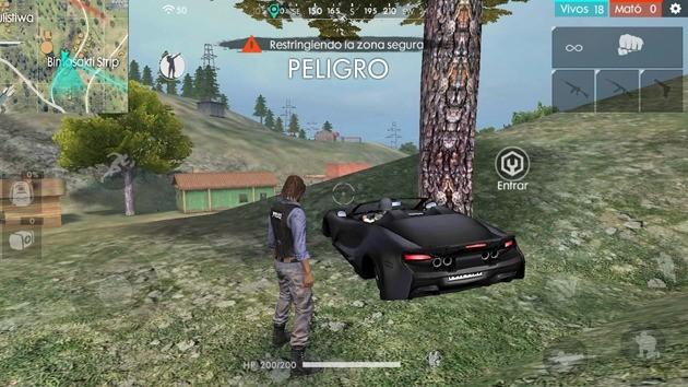 Free Fire - Vehículos: coche deportivo