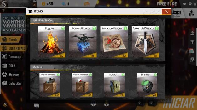 Free Fire - Consejos avanzados: ítems de supervivencia y básicos