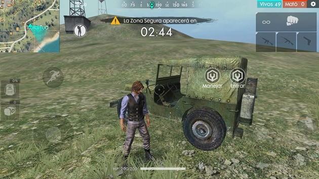 Free Fire - Vehículos: Jeep militar